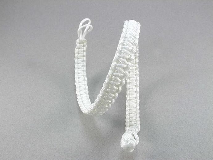 macramé choker style necklace with monkey fist toggle nylon necklace knotted