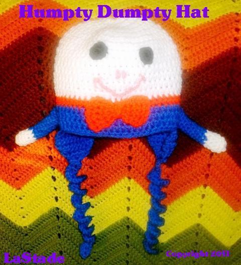 Humpty Dumpty Children's Hat PDF crochet pattern