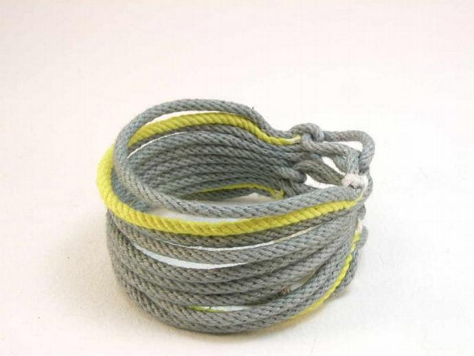 cotton cord cuff 11 strand rope bracelet 1650