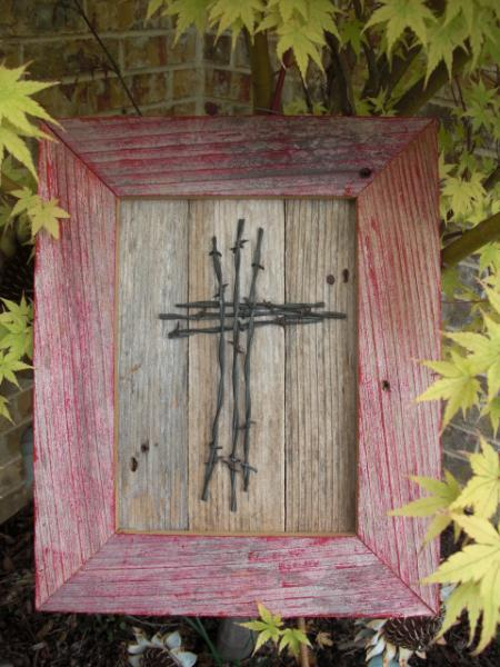 Cross Wood Wall Hanging by ABCbirdhouses