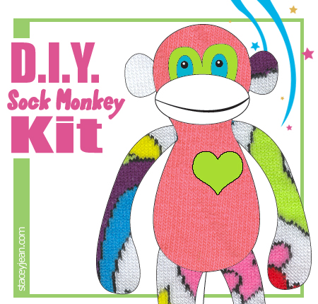 Sock Monkey D.I.Y. Kit #404 - Small - 10-12""
