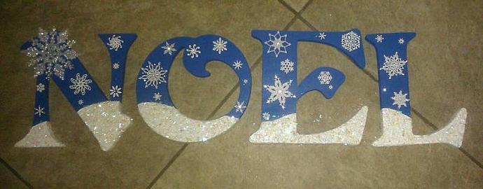 NOEL Snowy Day Letters