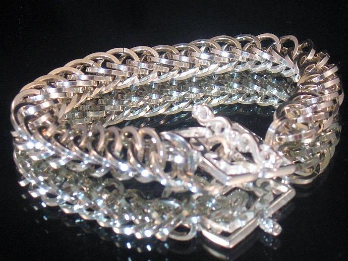 Spellbound Silver Chainmail Bracelet