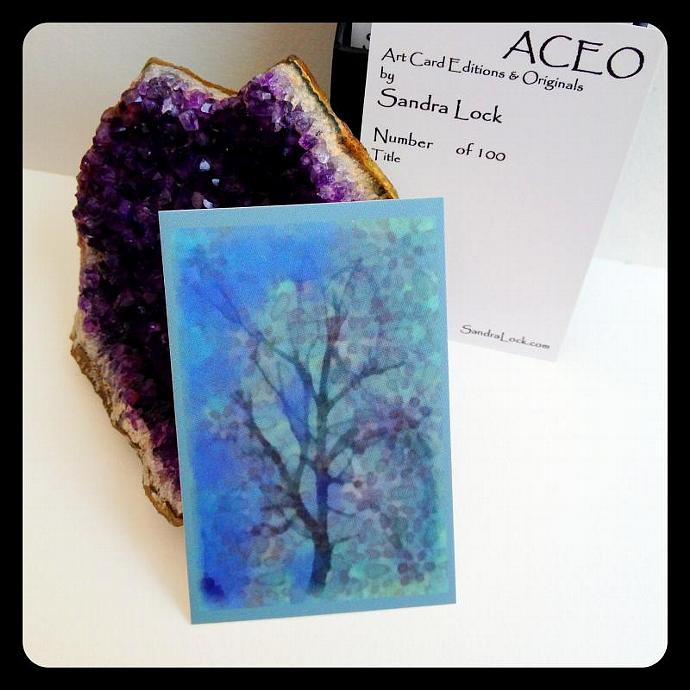 ACEO limited edition - 'Faded Blue.'