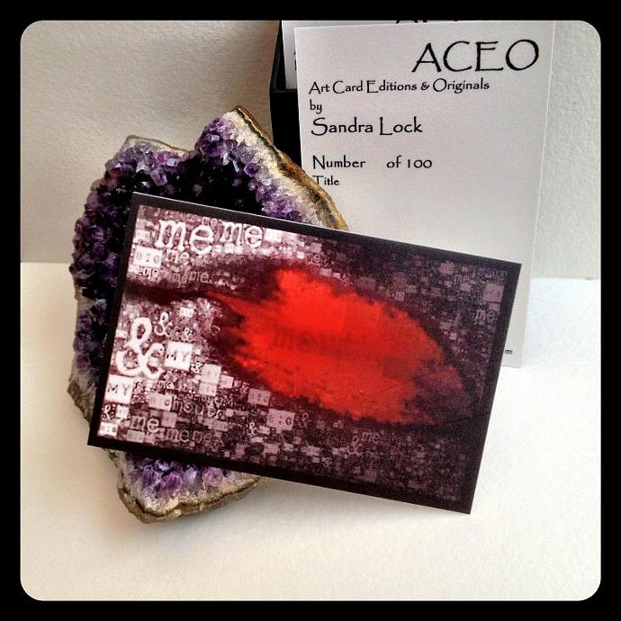 ACEO limited edition - 'Me and my big mouth.'