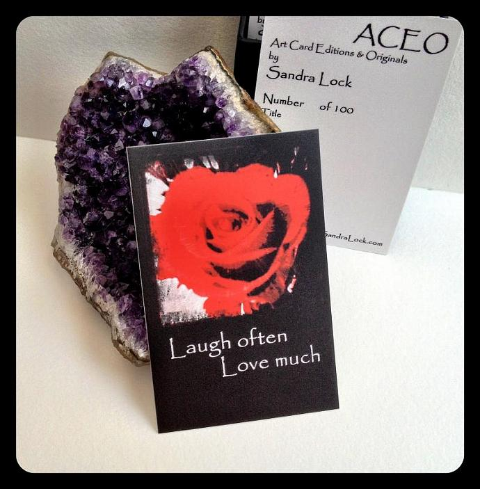 ACEO limited edition - 'Red Rose.' quote