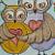Original Mixed Media Owl Painting by Val Zdero