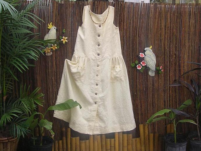 Linen Beachwear Sundress