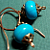 Egyptian Turquoise and Copper Earrings
