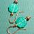 Pale Jade Geen Glass & Copper Earrings