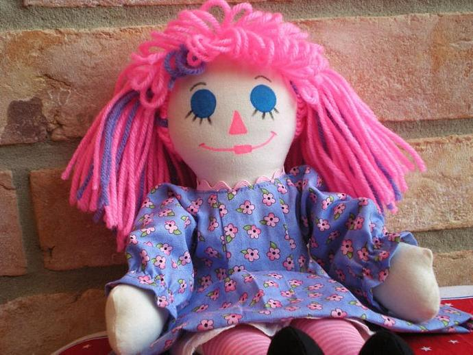 Pink & Purple Rag Doll