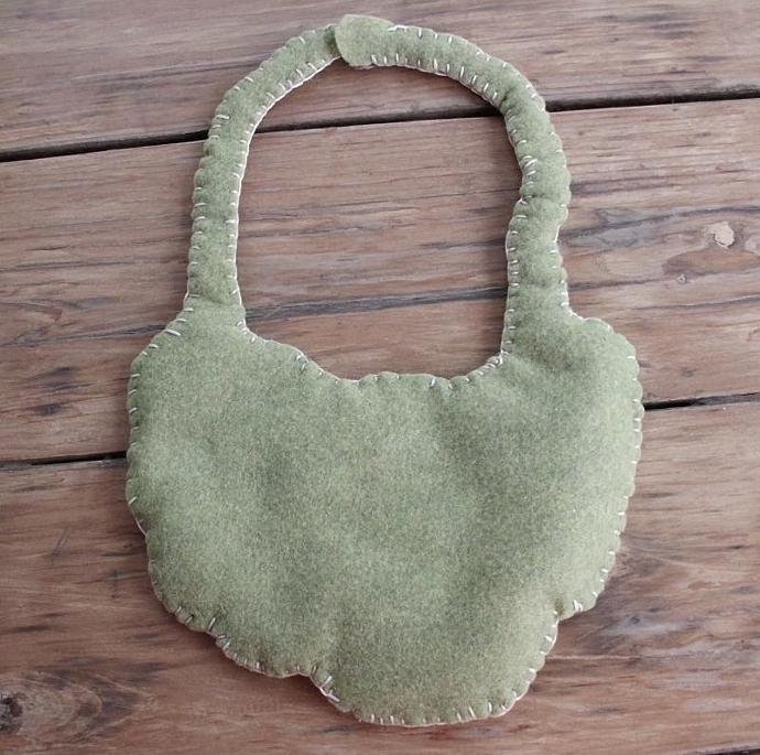 Hand Spun, Hand Dyed Wool Crocheted Bib Collar Neckpiece
