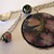 Magenta Dragonfly Charm Necklace by Val Z OOAK