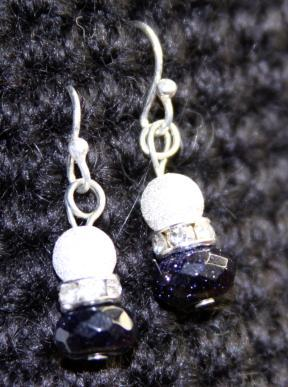 Earrings- Bluestone Sparkle