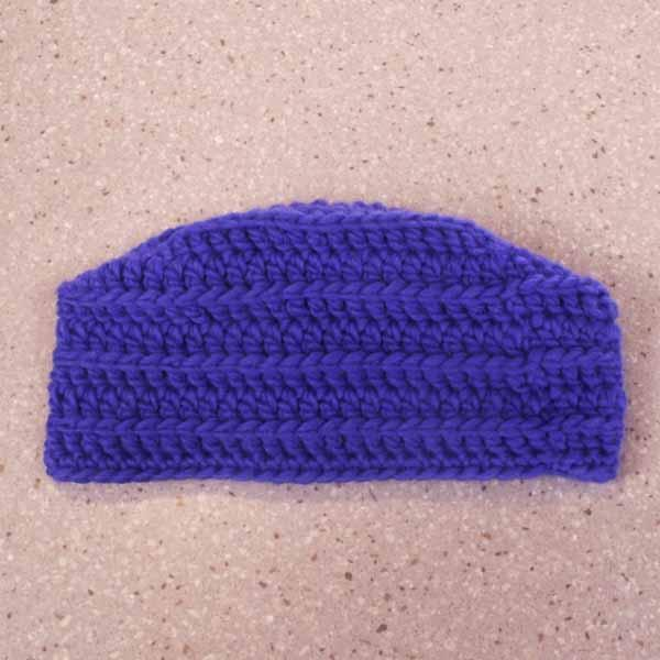 Blue Crocheted Cossack Hat
