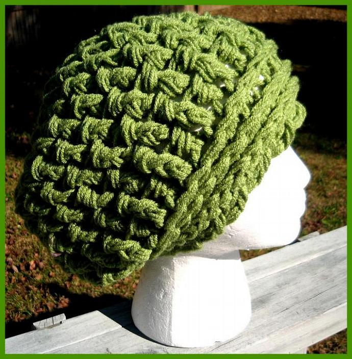 Adult Uber Wafflestitch Slouchy Beanie-Wasabi or other colors available