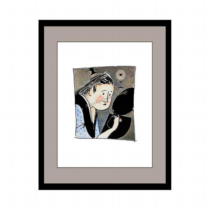 Art -- Geisha Reflections -- Original Art Collage -- FREE US Shipping