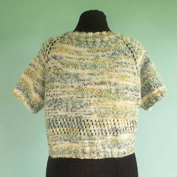 Short Sleeve Cardigan Sweater - Size Large