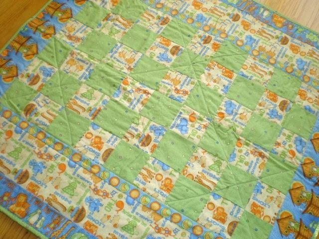 Animals and Ark Baby Quilt