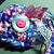 Fluffy Sparkly Pink and Blue Brooch Pin