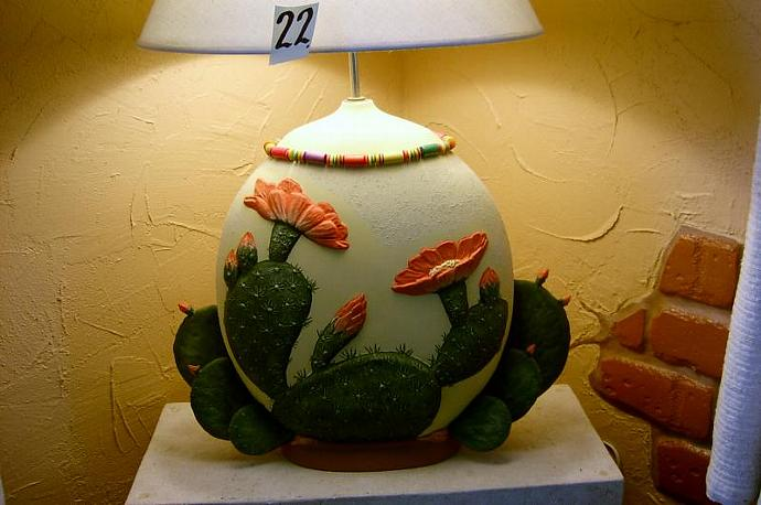 E-LNT-22 -  PRICKLY-PEAR CACTUS LAMP