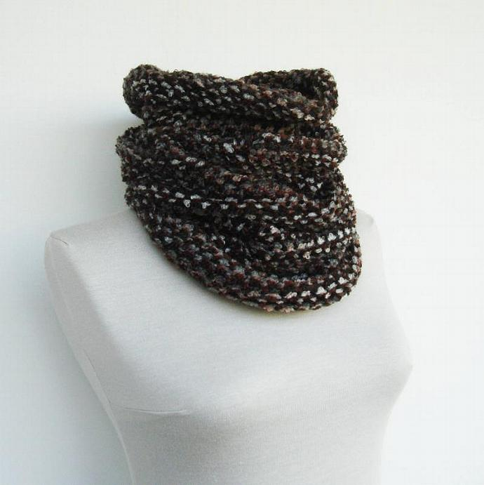 Men scarf - tweed cowl - Hooded chunky cowl - Choose your color