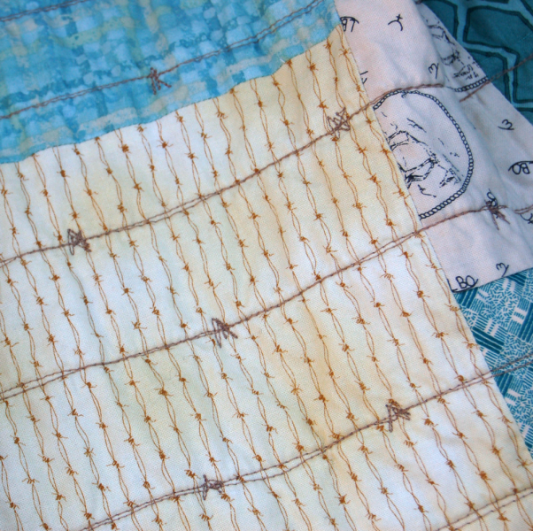 Barbed Wire Cowboy Baby Quilt