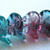 20 pcs Czech Glass 3-Petal Flower Beads Pink/Blue