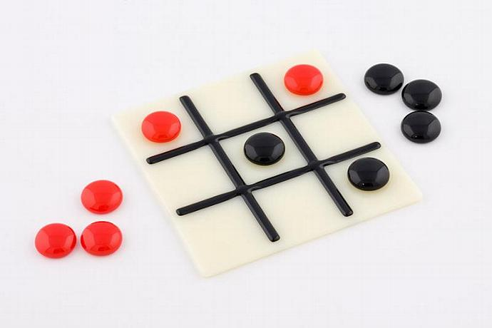 Fused Glass Tic Tac Toe Game