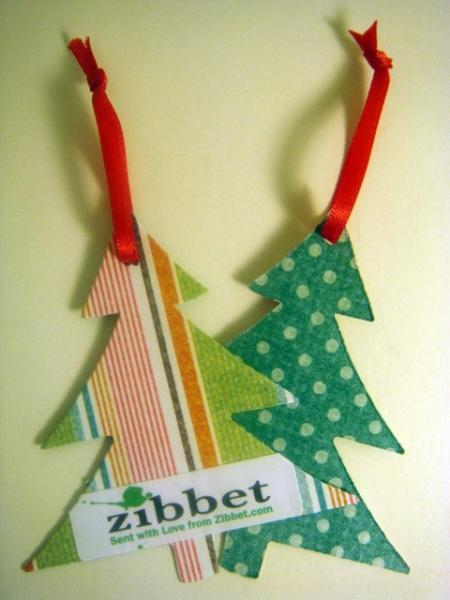 PIF - Tree gift hang tag with Zibbet logo set of 8