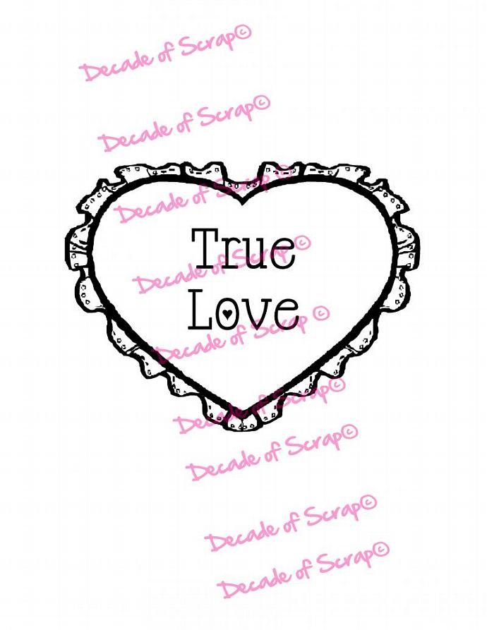 Valentine True Love Heart Digi Image