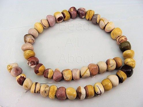 Mookaite 11x8mm Pebbles  Beads Strand