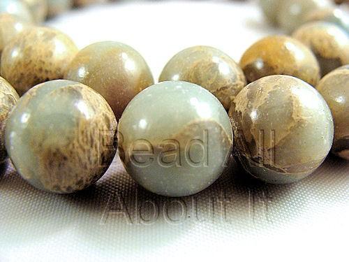 Aqua Terra Jasper 10mm Round Beads Strand