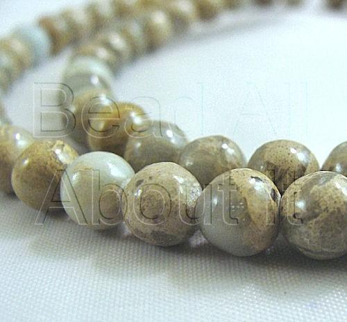 Aqua Terra Jasper 6mm Round Beads