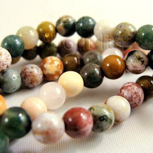 Ocean Jasper 4mm Round Beads Strand