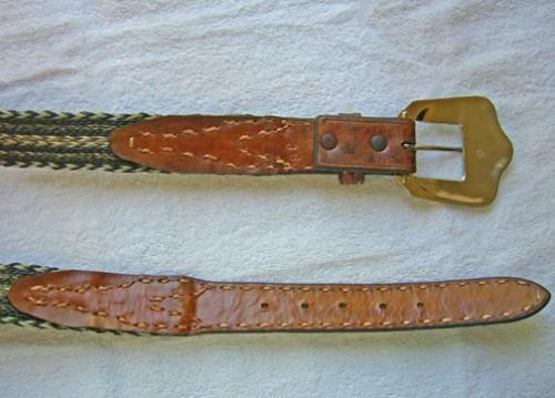 Braided horse hair and leather handcrafted belt 39 to 41 WAIST   B44