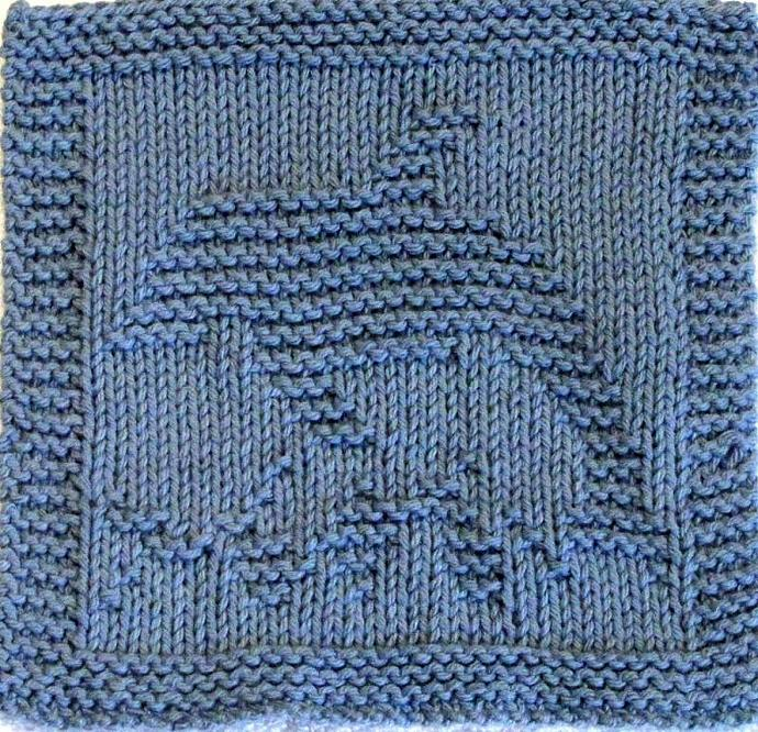 Knitting Pattern - DOLPHIN - PDF