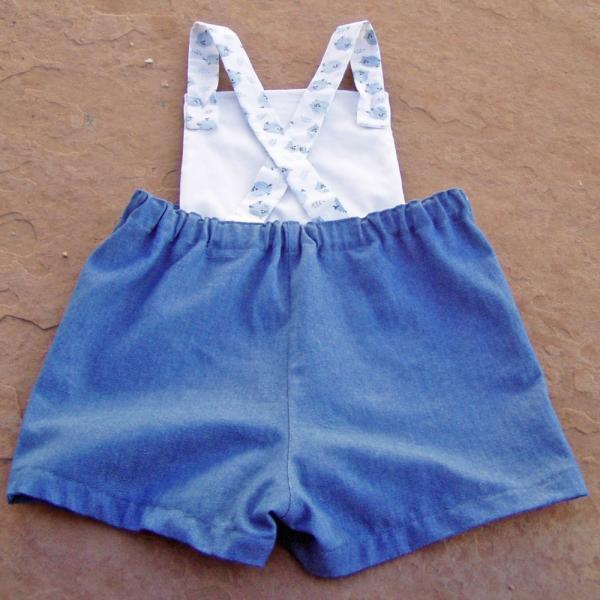 Owl Bibbed Toddler Shorts
