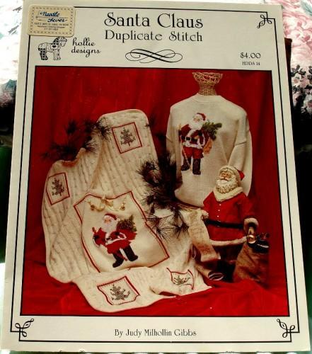 Santa Claus Duplicate Stitch By Judy Milhollin Gibbs for Hollie Design