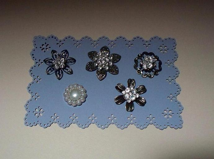 5 Metal Brads Embellishment