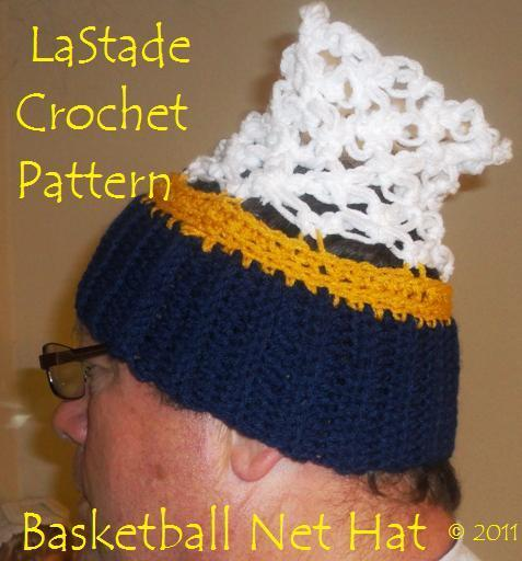 Basketball Net Hat Crochet Pattern Ready for March Madness