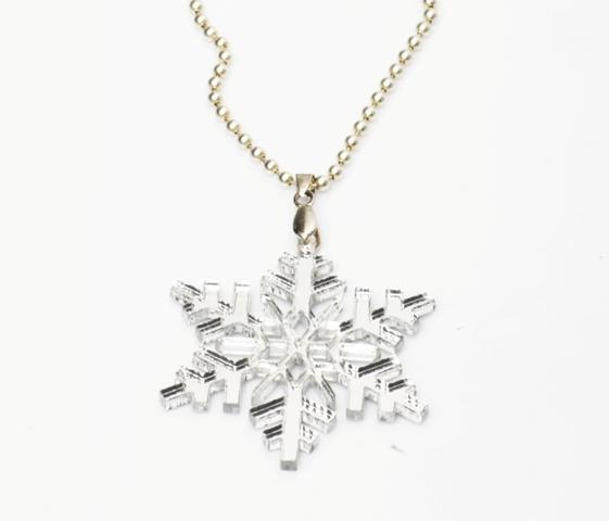 Snowflake Necklace,Plexiglass Jewelry,Lasercut Acrylic,Gifts Under 25
