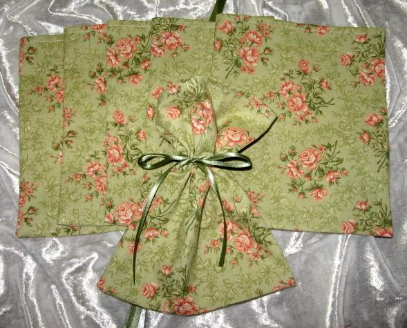 Olivia/ Set of 6  / Ribbon Tie Gift Bags / Great for Soaps / Candles / Jewelry /
