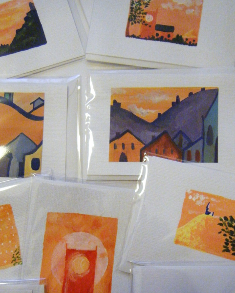 Selection of 5 Hand Painted Cards