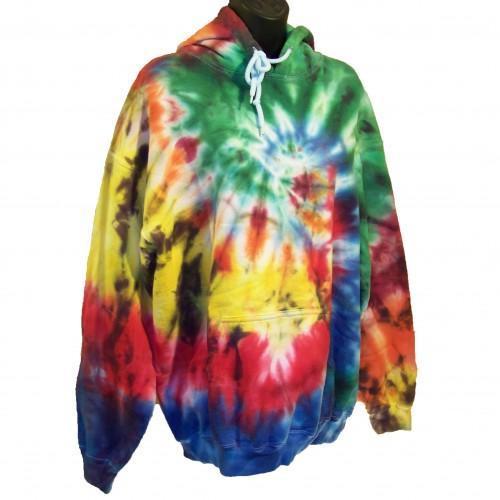 Tie Dye Hoodie - Large - Spotty Rainbow Swirl