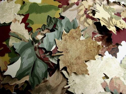 Autumn Maple Leaf Die Cut Vintage Wall Paper Punches Packet of 75