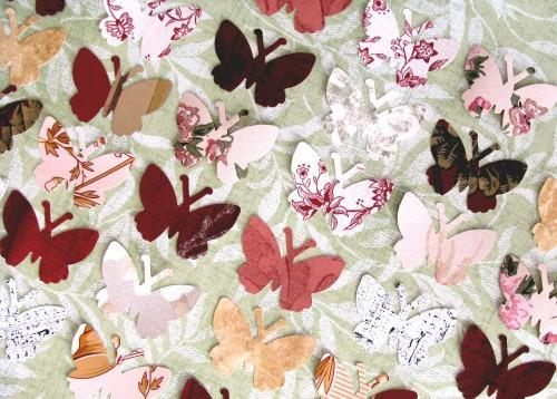 Butterfly Die Cut Vintage Wall Paper Punches Packet of 100