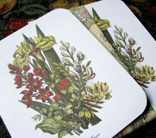 Victorian June Bouquet Stationery Note Flats Set