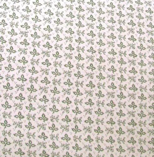 Schumacher Vintage Wall Paper Colonial Sage Leaf 3 Continuous Feet