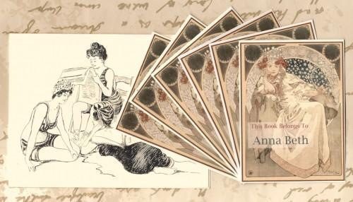 Personalized Custom Set of 24 Book Plates For the Fairy Queens Books